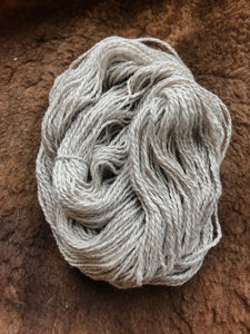 Corriedale Wool & Angora Rabbit Blend Yarn Close Up