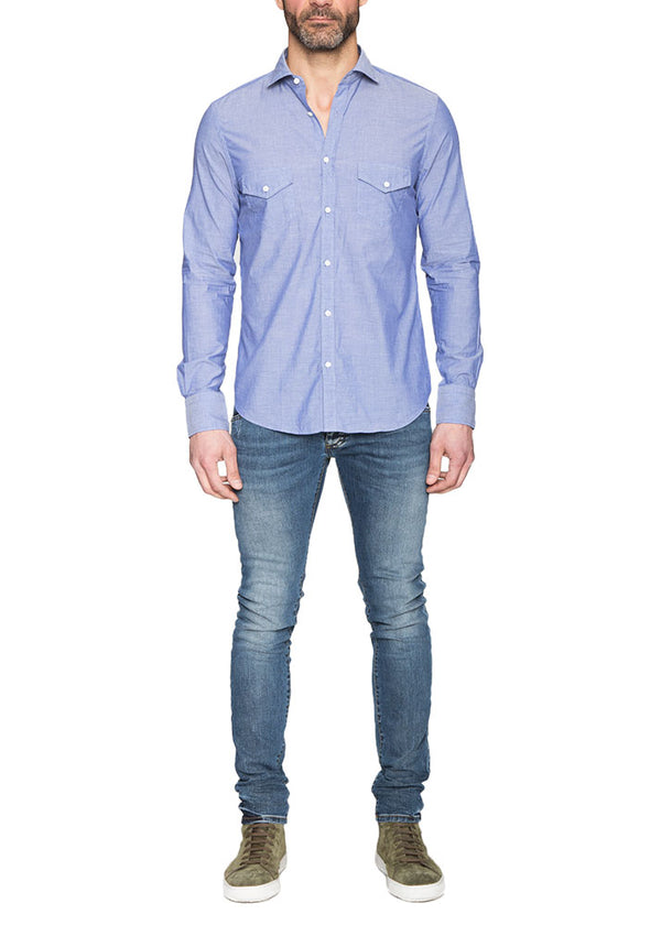 Light Blue Shirt with Pockets-Ari Soho