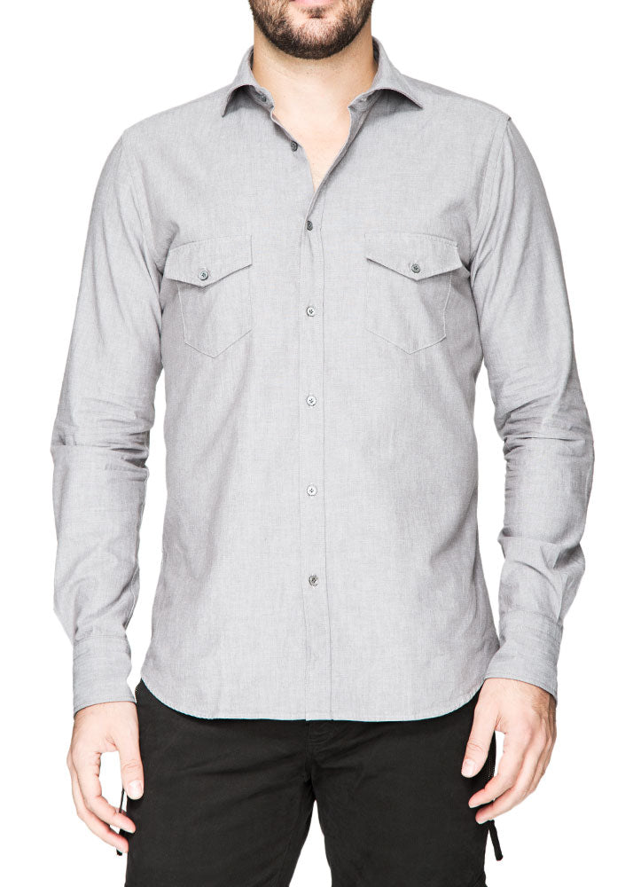 Clay Button Down Shirt with Pockets-Ari Soho