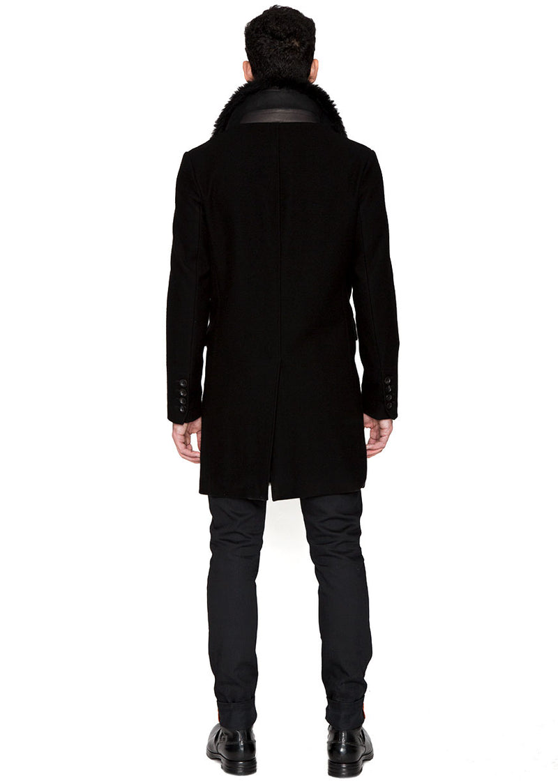 Shearling Peacoat-Ari Soho