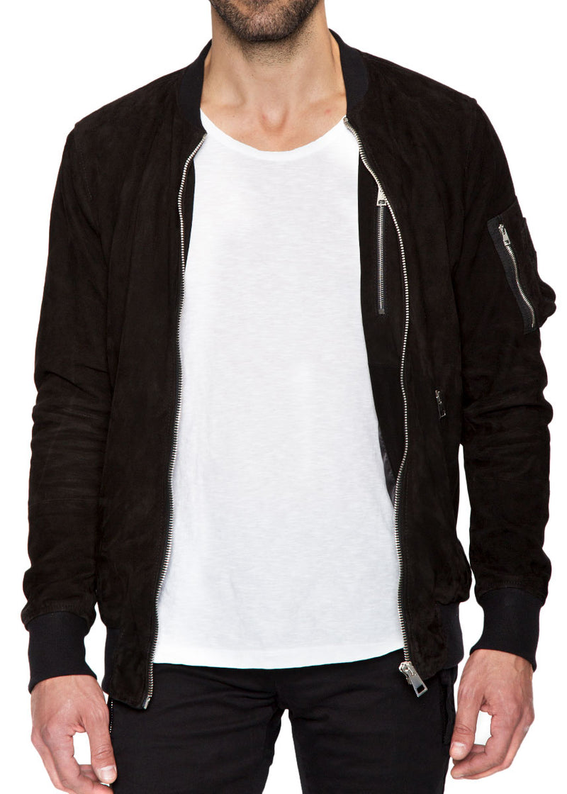 Black Alpha Leather Jacket-Ari Soho