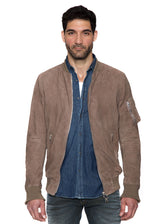 Alpha Leather Jacket in Natural-Ari Soho