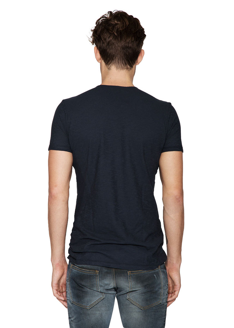Ace Fiammato Crew Neck in Navy-Ari Soho