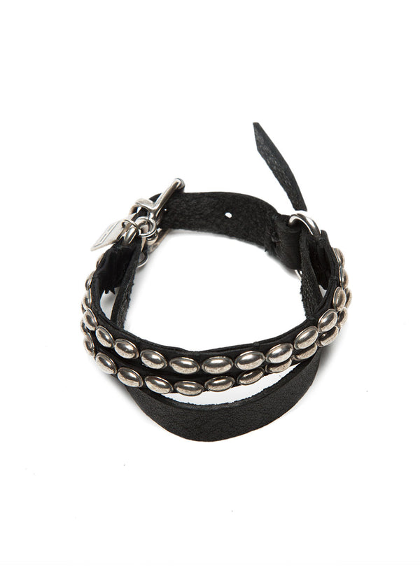 GOTI BR215 Sterling Silver and Leather Bracelet-Ari Soho