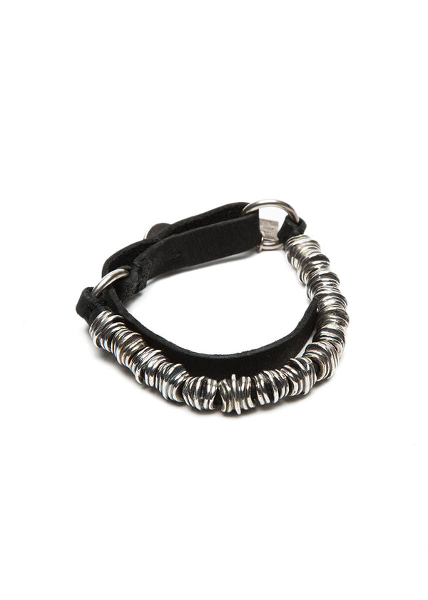 GOTI BR205 Sterling Silver and Leather Bracelet-Ari Soho