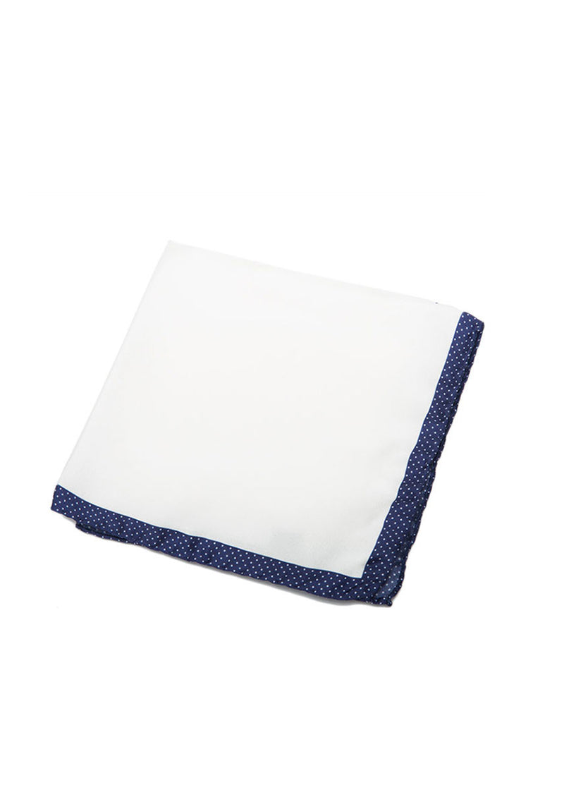 Blue Pocket Square 100% Silk-Ari Soho