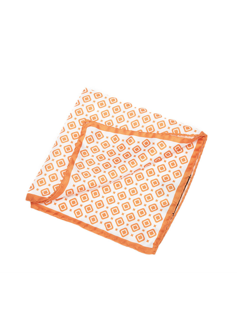 Orange Pocket Square-Ari Soho