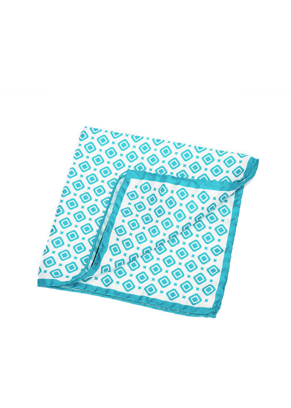 Turquoise Pocket Square-Ari Soho