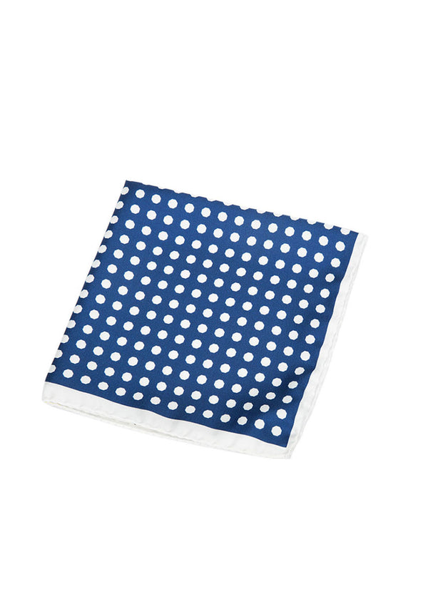 Blue Polka Dot Pocket Square-Ari Soho