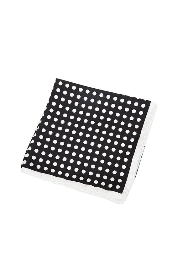 Black Polka Dot Pocket Square-Ari Soho