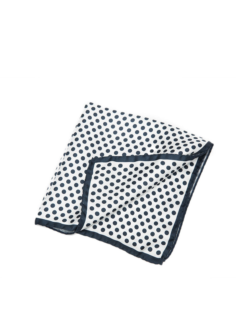 Navy Polka Dot Pocket Square-Ari Soho