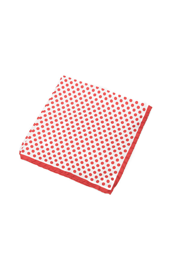 Red Polka Dot Pocket Square-Ari Soho