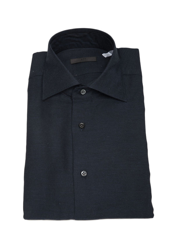 Cashmere Button Down in Navy Blue-Ari Soho