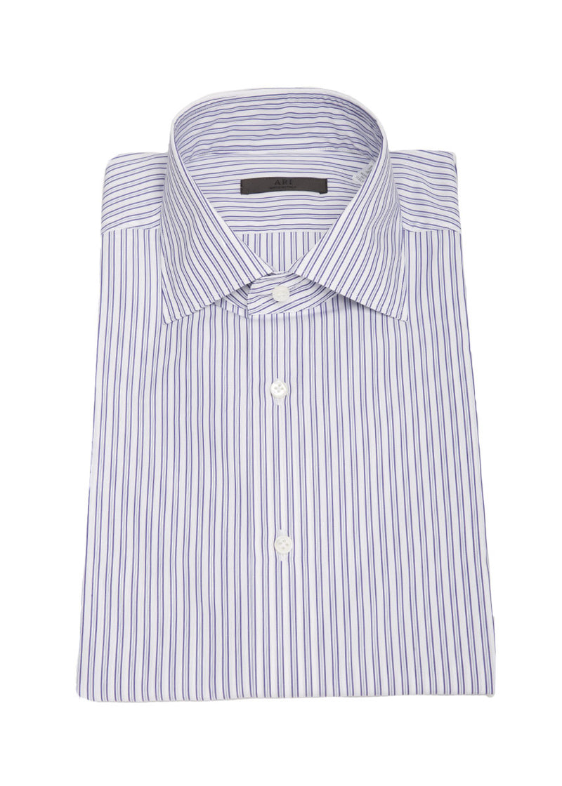 Striped Button Down in Violet-Blue-Ari Soho