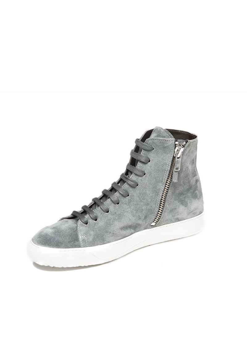 Mercer High Top in Grey Suede-Ari Soho