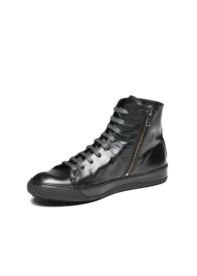 Mercer High Top Sneaker in Blackout-Ari Soho