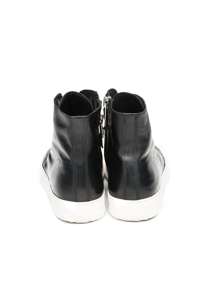 Black Leather High Tops-Ari Soho