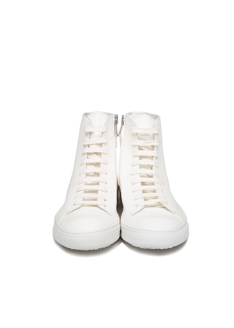 Mercer High Top Sneaker in White-Ari Soho