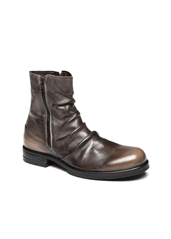 Brown Folded Leather Boot-Ari Soho
