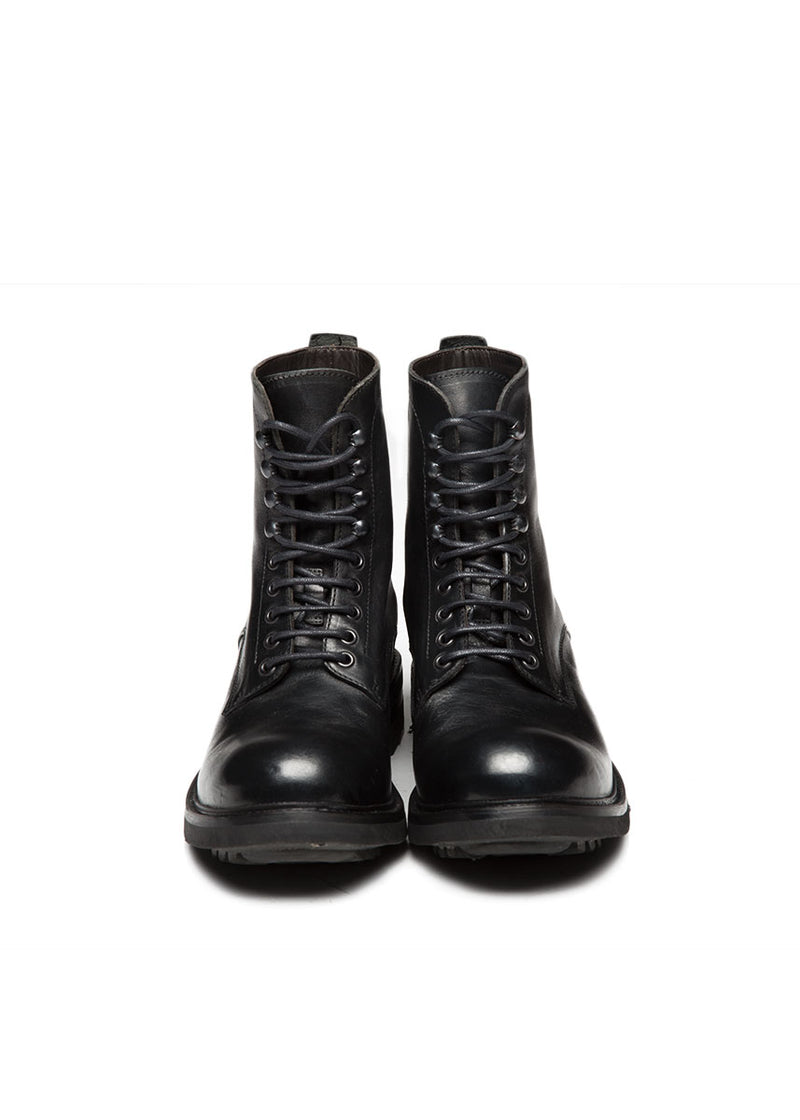 Black Combat Boot-Ari Soho