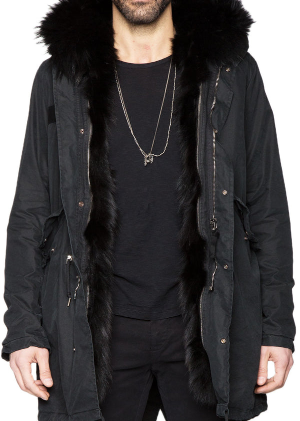 KIRRA Black Fox Fur Parka-Ari Soho
