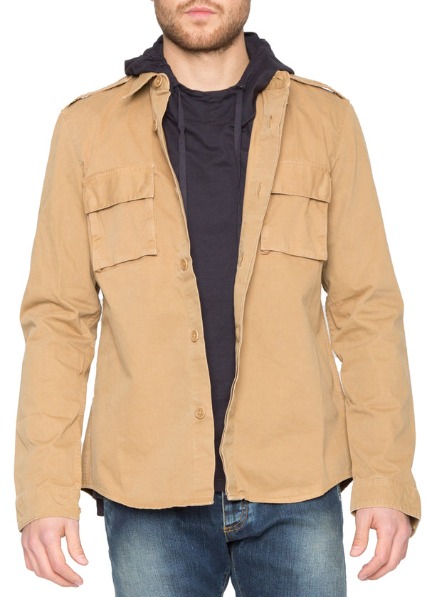 Military Shirt in Camel-Ari Soho