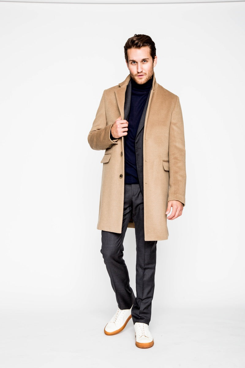 NEW CAMEL COAT IN WOOL-Ari Soho