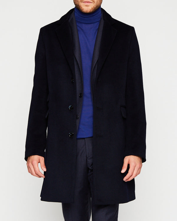 NEW NAVY COAT IN WOOL-Ari Soho