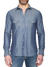 Dark Blue Shirt with Pockets-Ari Soho