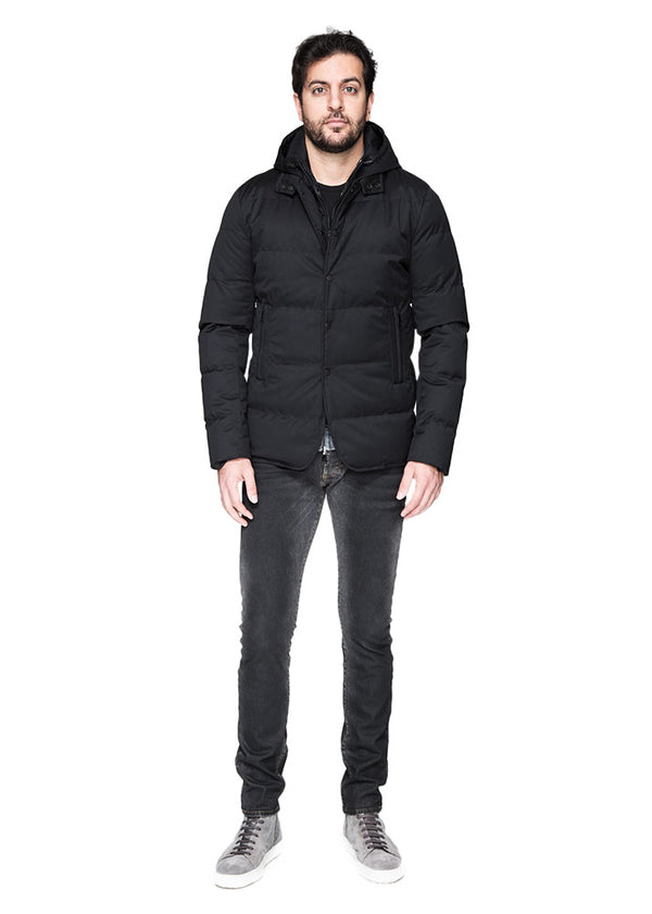 Down Coat Removable Vest and Hood-Ari Soho