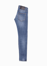 Blue Faded Denim Jeans-Ari Soho