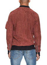 Alpha Leather Jacket in Burgundy-Ari Soho