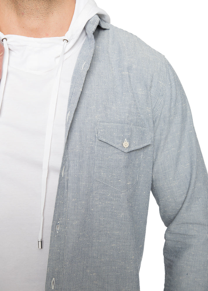 East End Button Down in Blue Stripe-Ari Soho