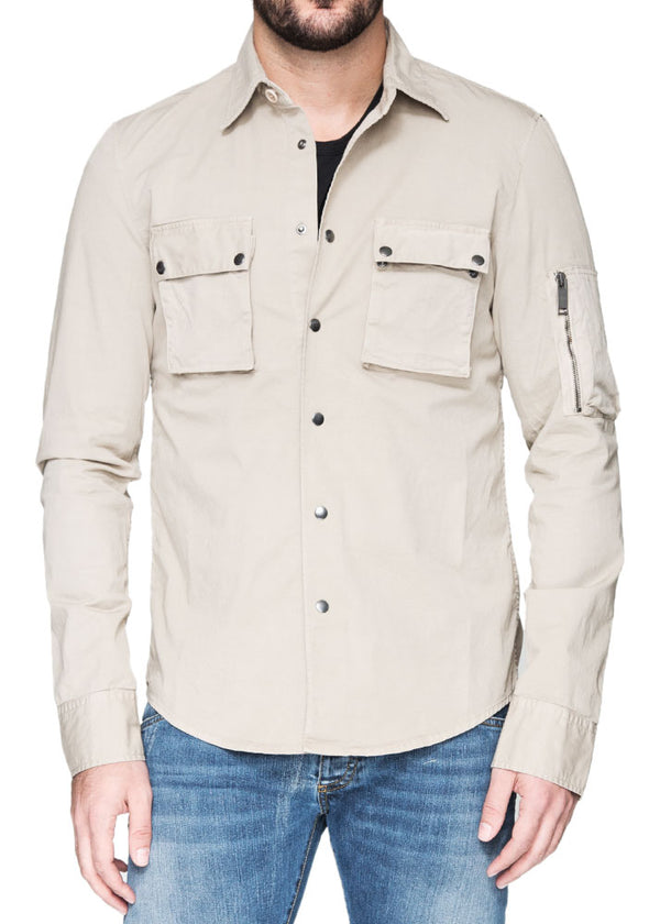 Cargo Military Shirt in Camel-Ari Soho
