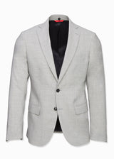 Light Gray Hooded Wool Suit-Ari Soho