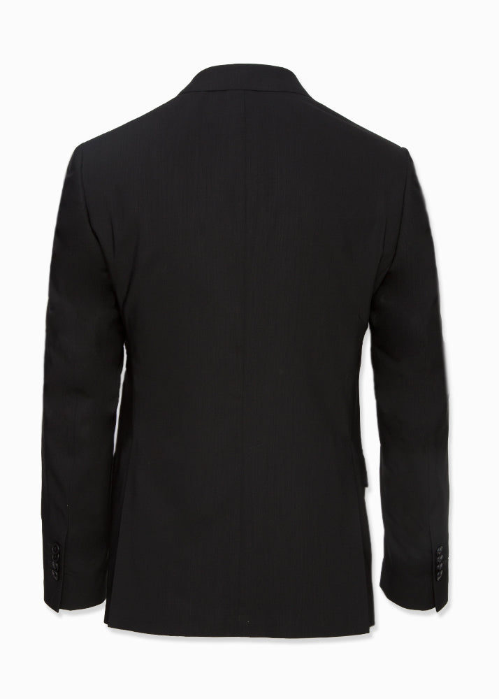 Black Hooded Wool Suit-Ari Soho