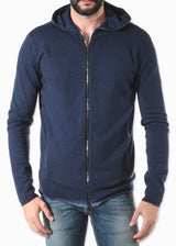 Infinity Cashmere Hoodie Navy