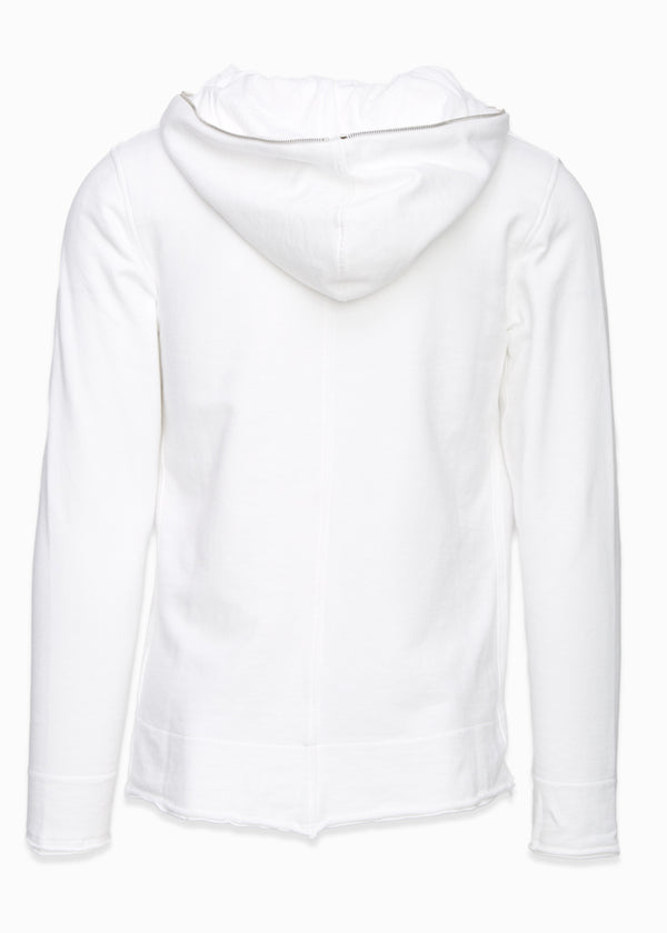 Cotton Raw Edge Zip-Up-Ari Soho