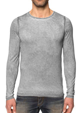 Grey Scoop Neck Silk Cashmere Pullover-Ari Soho