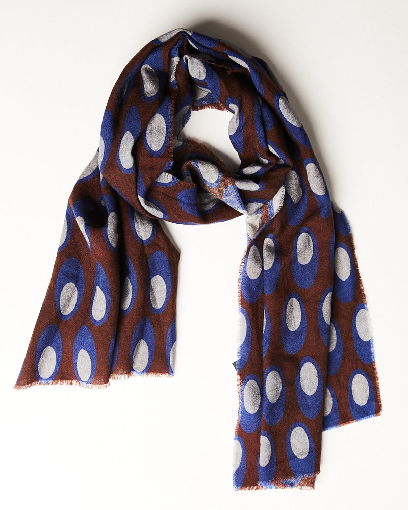 Multi Print Scarf with circles-Ari Soho