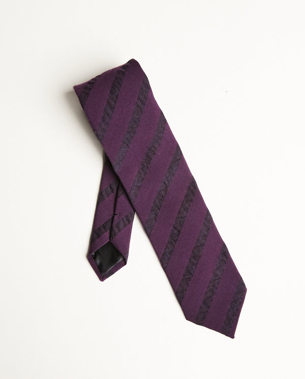 Burgundy Tie With Stripes-Ari Soho