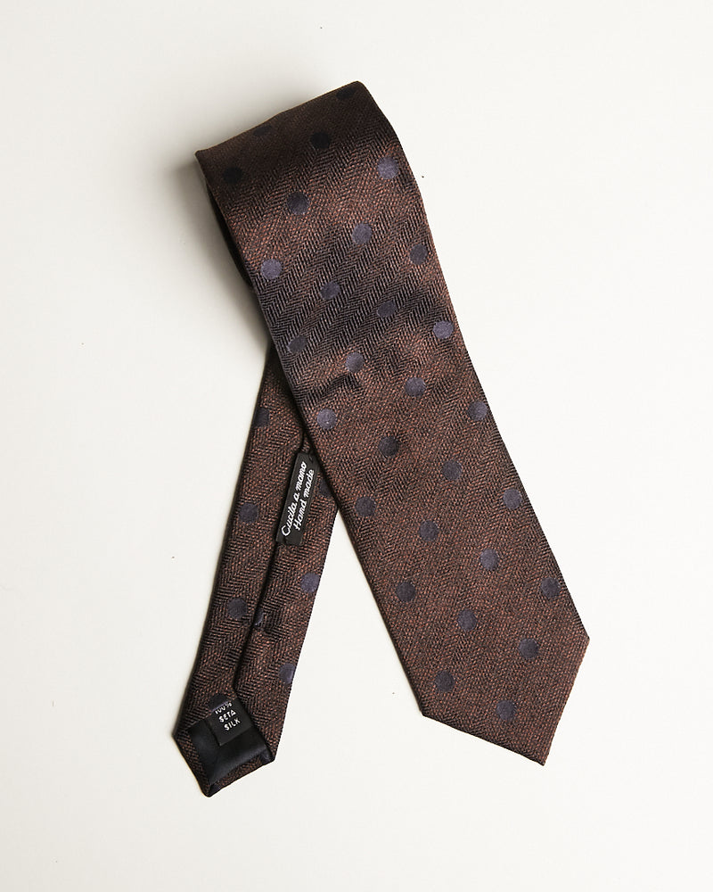Brown Pattern Tie-Ari Soho