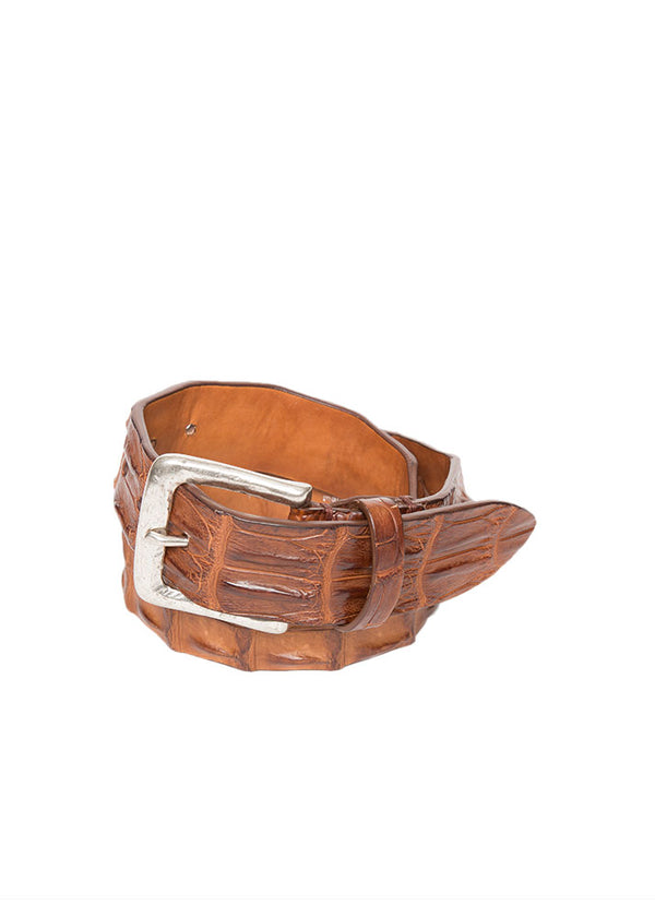 Ari Croc Belt in Brown-Ari Soho