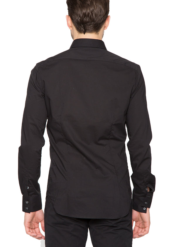 Pocket Button Down in Black-Ari Soho