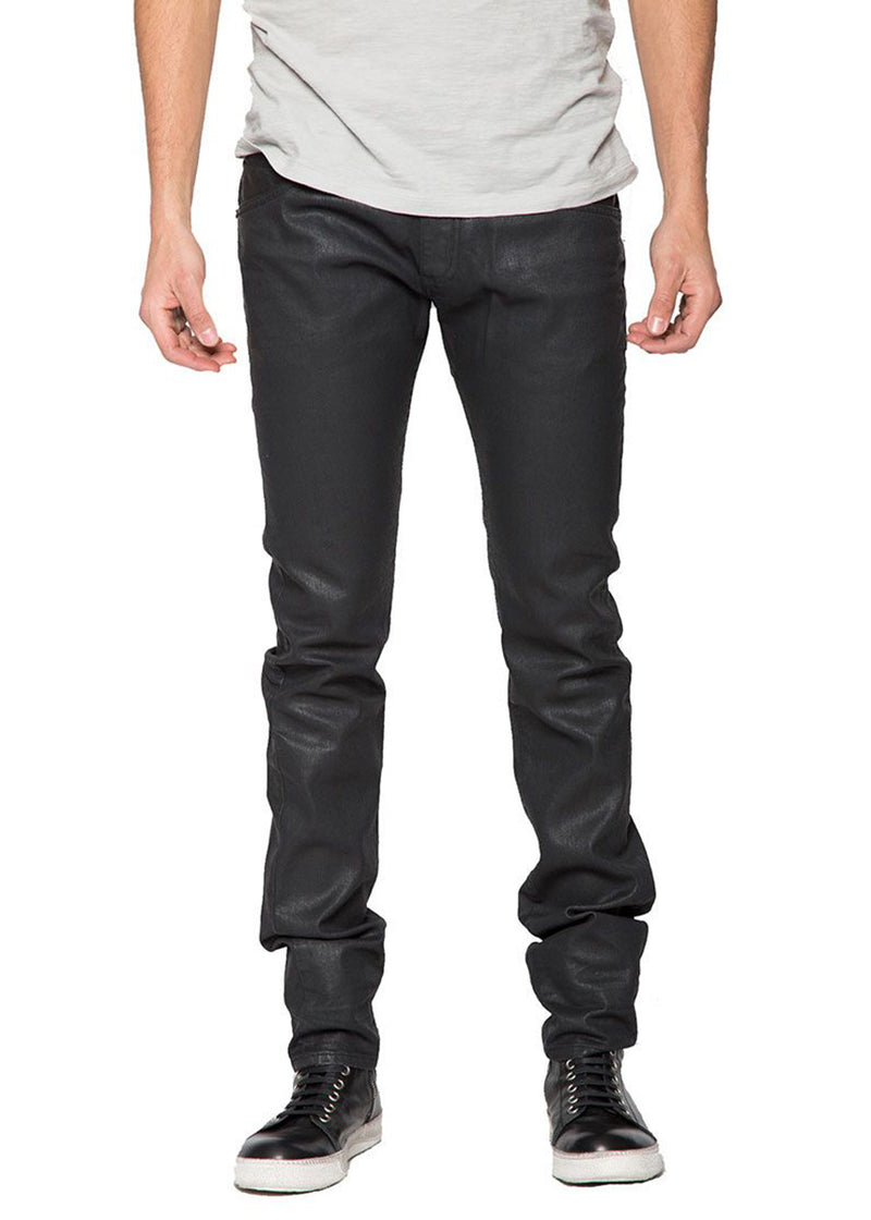 Wax Denim In Black-Ari Soho