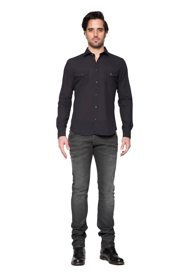 Black Mussola Shirt-Ari Soho