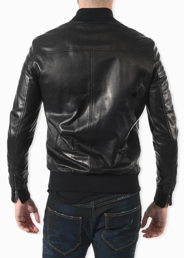 Rob Black Bomber Jacket
