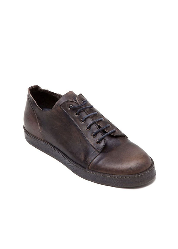 Brown All Leather Low-Top Shoe-Ari Soho