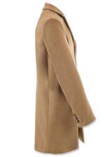 Camel Wool-Angora Travel Coat