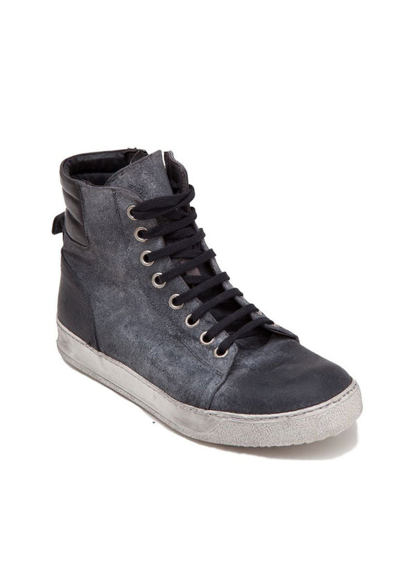 Charcoal Washed High-Top Sneaker-Ari Soho